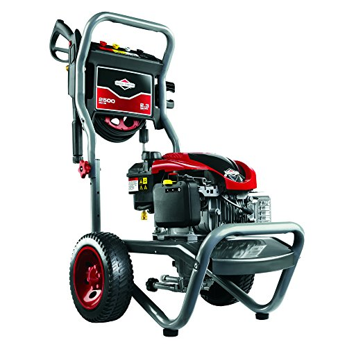 Briggs & Stratton 20500 2.3-Gpm 2500-Psi Gas Pressure Washer With 675 Series 190Cc Engine And Readystart Technology, Engine Oil Included