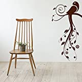 Decal Style Bird Swirls Wall Sticker Large Size-21*42 Inch - B00WSNAZGG