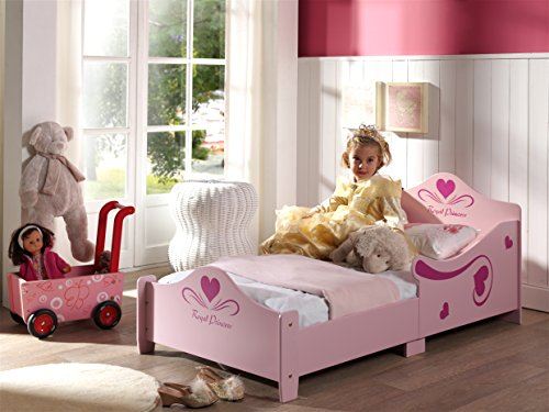 Vipack SCTDPC Toddler Princes Lit Enfant MDF Rose 148 x 77 x 60 cm