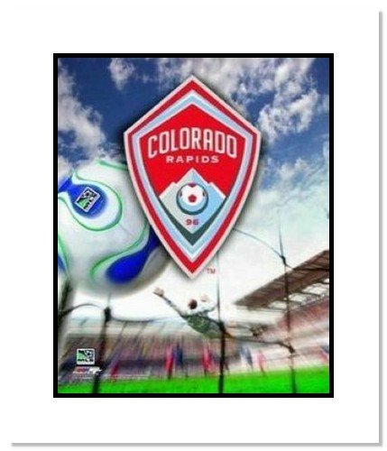 Colorado Rapids MLS Soccer Team Logo Double Matted 8x10 Photograph