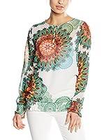 Desigual Blusa Belen Rep (Verde / Blanco)
