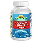 L-Arginine L-Citruline Complex 1000 mg 250 Tablets by Nova Nutritions