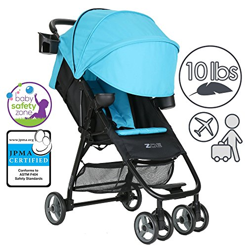ZOE XL1 DELUXE Xtra Lightweight Travel & Everyday Umbrella Stroller System (Aqua)