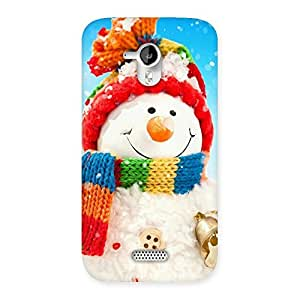 Ajay Enterprises Extant Snowman Multicolor Back Case Cover for Micromax Canvas HD A116