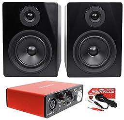 Focusrite SCARLETT SOLO MK2 192 KHz USB 2.0 Audio Interface+Pair Studio Monitors