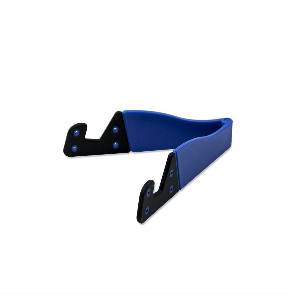 Eeejumpe Smart Phone and Tablet Stand - Foldable Vertical and Horizontal Mount for iPhone/iPad/Samsung Galaxy/HTC One and All Mobile Phones Blue
