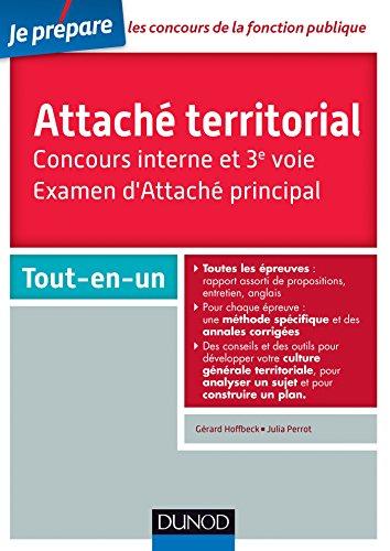 Attaché territorial. Concours interne et 3e voie: Catégorie A