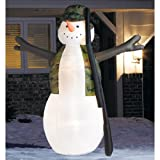 Rare - 8 Ft. Christmas Airblown Inflatable - Hunting Snowman