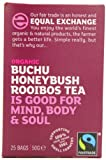 Equal Exchange Organic Honeybush Rooibos 25 Teabags (Pack of 6, Total 150 Teabags)