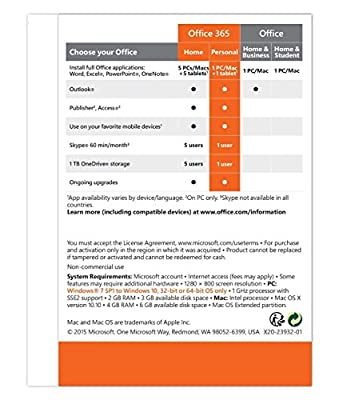 Microsoft Office 365 Personal 32/64-Bit (Key Card)