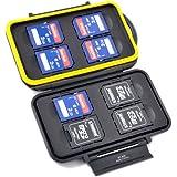 Boîte de protection espaces de memoire - étanche et extrême solide - pour 8 x SD (HC) / (XC)