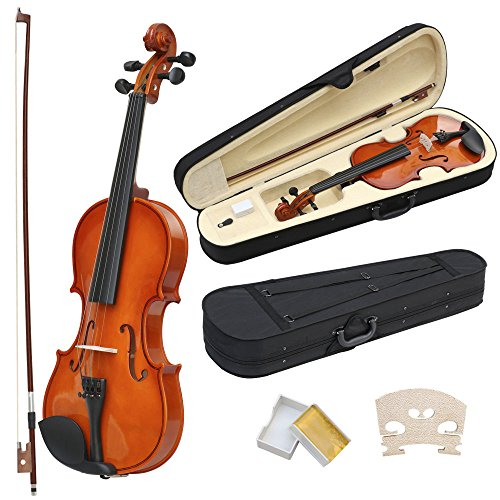 outdoortips-new-4-4-full-size-acoustic-violin-set-with-casebowrosin-cakebridgestrings