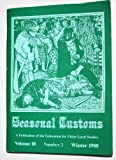 img - for Seasonal Customs: A publication of the Federation for Ulster Local Studies (Volume 10, Number 2) book / textbook / text book