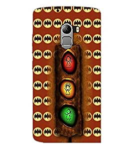 PrintDhaba Signal D-4962 Back Case Cover for LENOVO K4 NOTE A7010 (Multi-Coloured)
