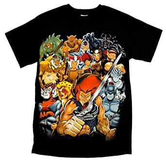 Thundercats Cast on Amazon Com  Thundercats Cast Retro Cartoon Tv Show T Shirt Tee