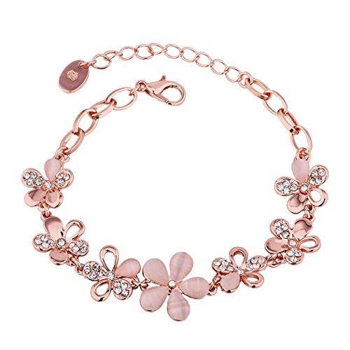 yc-de-jolie-fleur-rose-18-k-plaque-or-oxyde-de-zirconium-opale-elegant-bracelet-lady