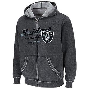 Team Apparel Oakland Raiders NFL Crucial Call II Full Zip Hoodie by NFL Team Apparel