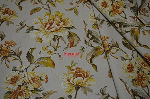 tessuto x tappezzeria tovagliato cuscineria tendaggi a fiori country art ravello in misto lino