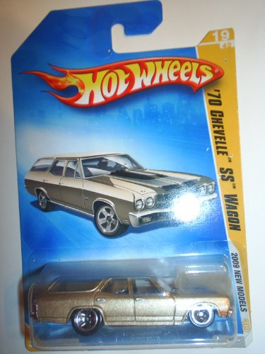 Hot Wheels Red Line 2009 New Model 70 Gold Chevelle Ss Wagon 19 - 1