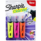 Sharpie Clear View Highlighter, Chisel Tip, 3-Pack, Assorted Colors