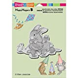 Stampendous Happyhopper Cling Rubber Stamp, 5.5 by 4.5-Inch, Knit Chick