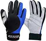 1.5mm Quality Mesh Reef Sporting Glove w/ Amara Palm Gloves for Scuba Dive Diving Divers Snorkel Snorkeling Swim Swimming Raft Rafting Kayak Kayaking Jet Ski Skiing Boat Boating Sail Sailing , Blue & Grey , X-Large