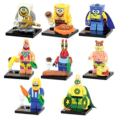 [SPONGEBOB SQUARE PANTS MINIFIGURES X 8] (Clark Kent Halloween Costume Girl)