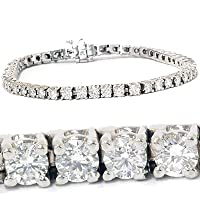 4.00CT Diamond Tennis Bracelet 14K White Gold by Pompeii3 Inc.