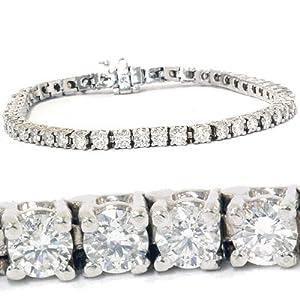 4.00CT Diamond Tennis Bracelet 14K White Gold by Pompeii3 Inc.