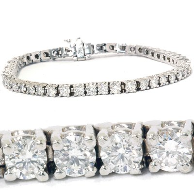 4.00CT Diamond Tennis Bracelet 14K White Gold