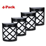 Solar-Fence-Lights-Wall-Mount-YIHONG-LED-Garden-Light-Lamp-Outdoor-Lightings-For-Deck-Post-Stairs-Steps-Gutter-Patio-Pond-Pool-4-Pack