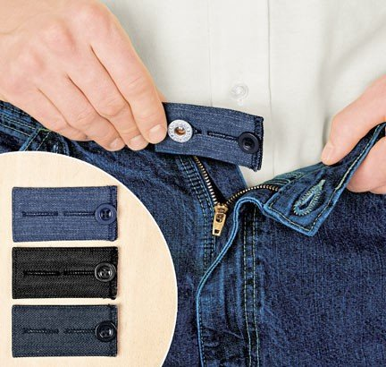 Home-X Easy Fit Buttons for Jeans. Add 1/2 or 2 inches to your waist (Metal Coil Button Extenders compare prices)