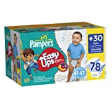Pampers Easy Ups Boy Trainers Value Pack Size 6 S4T/5T 78 Count