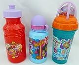 Nick Jr. Dora the Explorer Gift Set of 3 Water Bottle Tumbler Cups - Cup Drink Juice Twisty Straw Zak! BPA Free