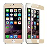 Hot Spot® Champagne Gold Glass Tempered Drop-proof Screen Protector Full Edge to Edge Screen Curved Coverage for Iphone 6 (4.7) Verizon, At&t, Sprint, T-mobile