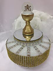 First Communion Gold Chalice Decoration Centerpiece Cake Topper Decoration