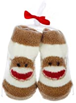 Baby Starters Unisex-Baby Newborn Novelty Booties, Red/Tan, One Size