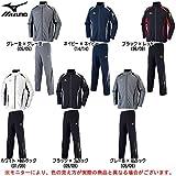 MIZUNO(ミズノ) ウォームアップ シャツ パンツ 上下セット 【メンズ】 (32JC6010/32JD6010) (M, ブラック×レッド(96/09))