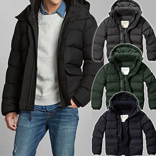アバクロンビー&フィッチ Abercrombie&Fitch アバクロ ダウンジャケット Northside Trail Jacket メンズ アウター ブラック Lサイズ 並行輸入品 VITA594-BK-L