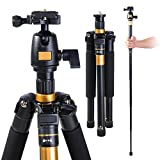 Adjustable-Pro-60-Tripod-Monopod-w-Ball-Head-For-DSLR-Camera-Travel-Aluminum