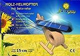 SOL-EXPERT Holz-Hubschrauber mit grobem Solarrotor