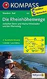 Die Rheinhöhenwege zwischen Bonn und Mainz/Wiesbaden und der Rheinsteig.: Wanderkarte mit Radtouren und tourisitschen Hinweisen. GPS-genau. 1:50000