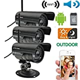 Pack of 3 HD Home Security IP Camera Wifi Wireless System Internet Outdoor Waterproof CMOS WPA2, WPA, WEP FREE DDND Alarm Action - Best Reviews Guide