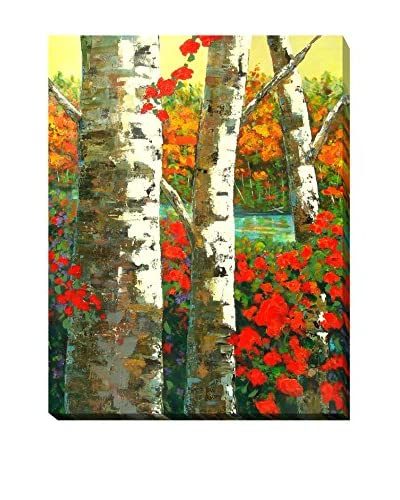"Marilyn Hurst ""Birches"" Weather-Resistant Canvas Print"