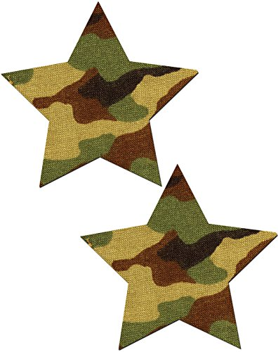 Star Nipple Pasties Camouflage Pastease O/S