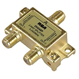 RCA DH24SPR Two Way 2.4 Ghz Bi-Di Splitter