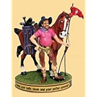 Ranch Hands Keep Your Balls Clean And Your Putter Covered Figurine