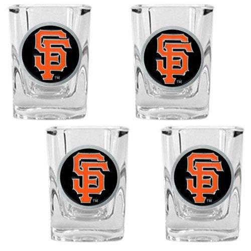 Mlb San Francisco Giants Four Piece Square Shot Glass Set