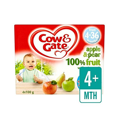 Mucca & Gate Mela E Pera Frutta Pentole 4 X 100G - Confezione da 6