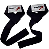TurnerMAX Poly Cotton Lifting Straps Weight Lifting Body Building Hand Wraps